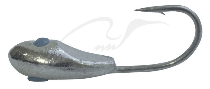 Мормышка вольфрамовая Shark Уплощенная овсинка с лыской 0,4г диам. 3,0 мм крючок D16 ц:серебро