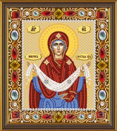 Д 6012 Божия Матерь Покров Пр. Богородицы. Новая Слобода.. Наборы для вышивания бисером