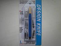 Нож дизайнерский для кожи с запасными лезвиями + 3 правилки, фото 1