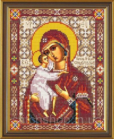 Н 9049 Богородица Феодоровская. Новая Слобода. Наборы для вышивания бисером