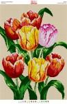 БА2-098 Тюльпаны.. Схема на ткани для вышивания бисером
