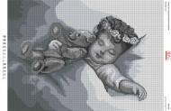 БА2-096 Сладкие сны.. Схема на ткани для вышивания бисером