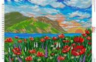 БА2-116 Свежесть гор.. Схема на ткани для вышивания бисером