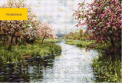 G545 Весняний пейзаж. Luca-S. Набір для вишивання нитками