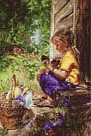 G544 На террасе. Luca-S. Набор для вышивания нитками