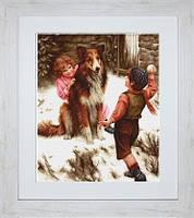 G540 Игра в снежки. Luca-S. Набор для вышивания нитками