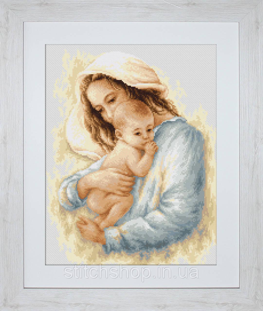 G537 Мать и дитя. Luca-S. Набор для вышивания нитками