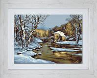 G523 Зимний день. Luca-S. Набор для вышивания нитками