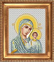 И-4013 Казанская Божия Матерь в белом. Благовест. Схема на ткани для вышивания бисером