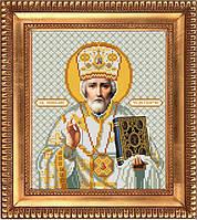 И-4015 Святой Николай Чудотворец. Благовест. Схема на ткани для вышивания бисером