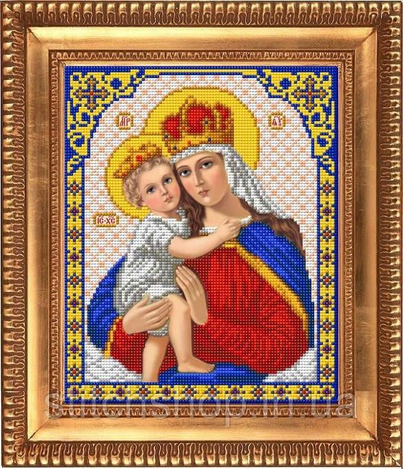 И-4034 Дева Мария с младенцем. Благовест. Схема на ткани для вышивания бисером