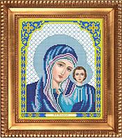 И-4045 Казанская в синем. Благовест. Схема на ткани для вышивания бисером
