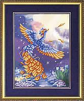 К-4010 Птица счастья. Благовест. Схема на ткани для вышивания бисером