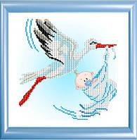 К-4012 С рождением мальчика. Благовест. Схема на ткани для вышивания бисером