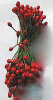 Тычинки для цветов красные глянцевые