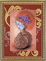 К-3043 Орхидеи. Благовест. Схема на ткани для вышивания бисером