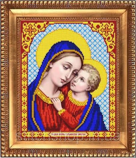 К-4033 Дева Мария. Благовест. Схема на ткани для вышивания бисером