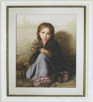 G513 Портрет девочки. Luca-S. Набор для вышивания нитками