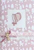 (S) F-13 Детский чепчик. Luca-S. Набор для изготовления открытки полная сборка с вышивкой