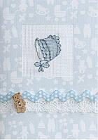 (S) F-14 Детский чепчик голубой. Luca-S. Набор для изготовления открытки полная сборка с вышивкой