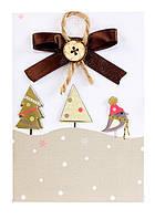 (S) A-7 Елочки. Luca-S. Набор для изготовления открытки полная сборка без вышивки