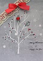 (S) A-13 Рождественская. Luca-S. Набор для изготовления открытки полная сборка без вышивки