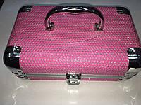 Кейс для косметики и бижутерии розовый new