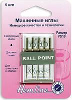 101.70 Иглы для бытовых швейных машин №70/10, 5шт.