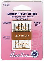 104.90 Иглы для бытовых швейных машин для кожи №90/14, 5 штук.