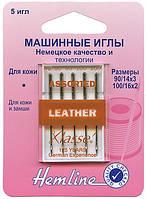 104.99 Иглы для бытовых швейных машин 5 штук, кожа № 90-100.