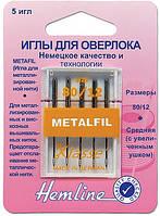 109.80 Иглы для бытовых швейных машин для металлизированной нити №80, 5 штук.