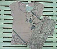 Трикотажная Пижама женская с капри Metin размеры М,L