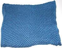 Шарф - хомут вязаный светло-синий