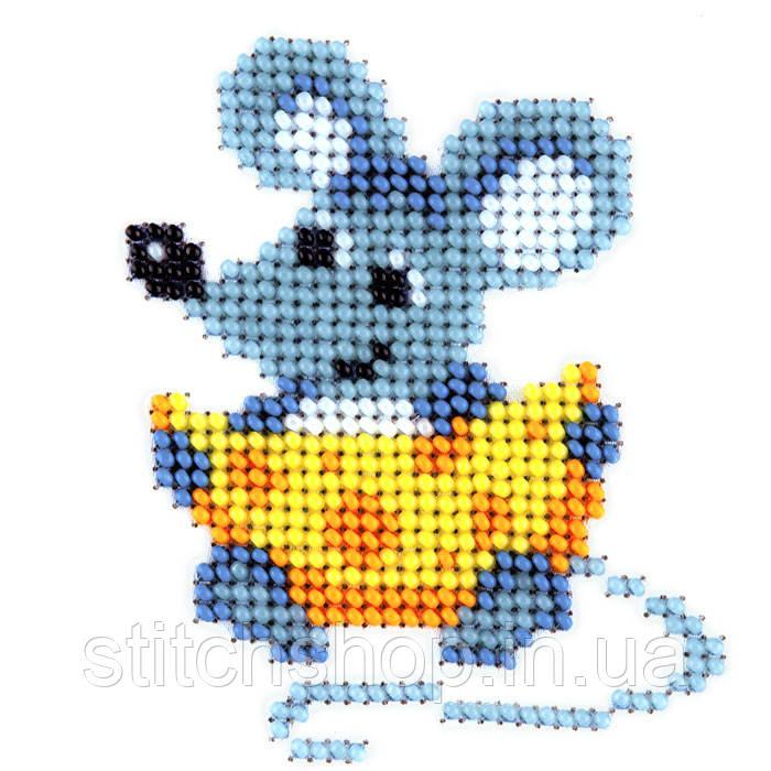 L-418 Мышь с сыром. Louise. Наборы для вышивания бисером