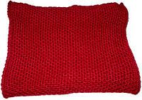 Шарф - хомут вязаный бордовый