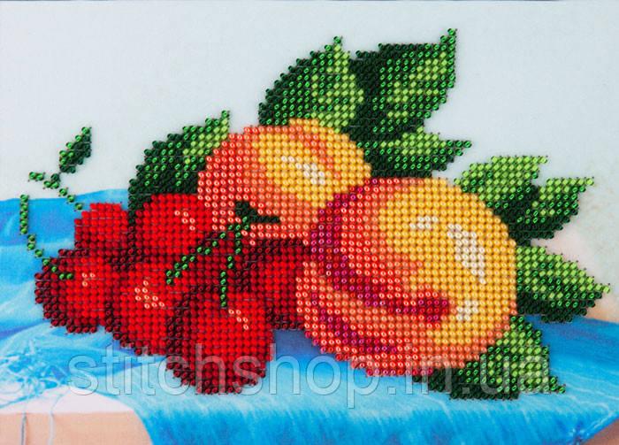 L-618 Персики и вишни. Louise. Наборы для вышивания бисером