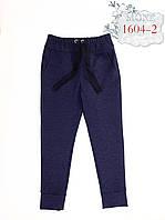 Брюки трикотаж, понтирома, принт джинс , р.134,152
