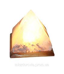 Соляной светильник Пирамида 4-5 кг (Украина) с белой лампой