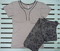 Трикотажная Пижама женская с капри Metin размеры S,L,XL