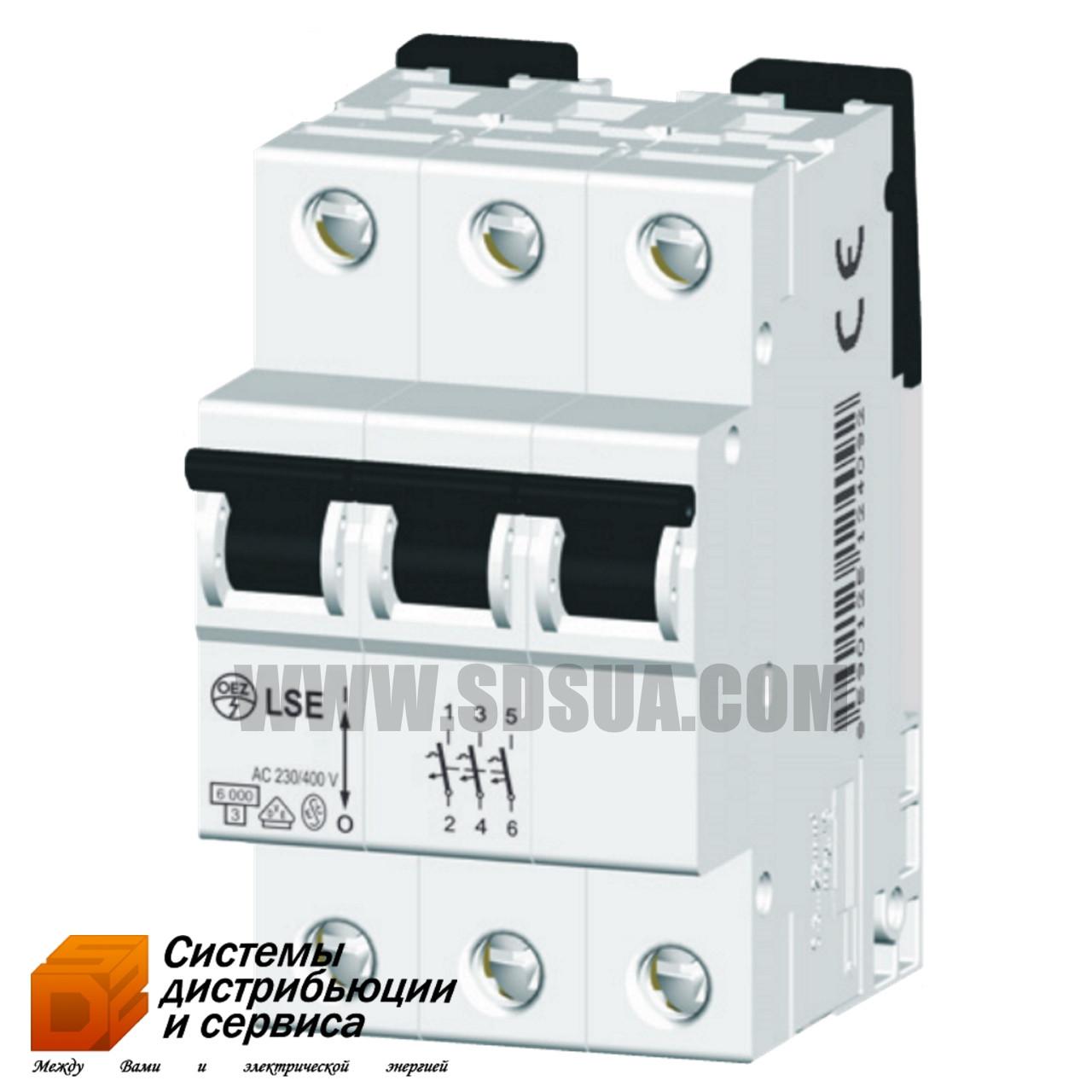 Автоматический выключатель LSE 10B/3 6кА (OEZ)