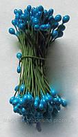 Тычинки для цветов синие глянцевые