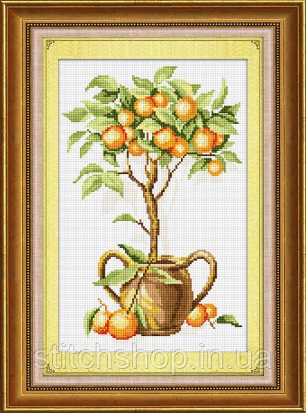 TK026 Апельсиновое дерево. LasKo. Наборы для рисования камнями (на холсте).