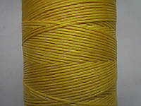 Нить вощёная плоская 1 мм жёлтая