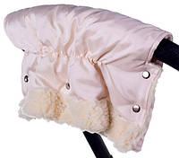 Муфта на коляску или санки из Польской ткани бежевый