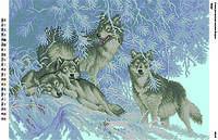 БА2-06 Волки. Вишиванка. Схема на ткани для вышивания бисером