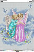 БА2-08 Ангелочки. Вишиванка. Схема на ткани для вышивания бисером