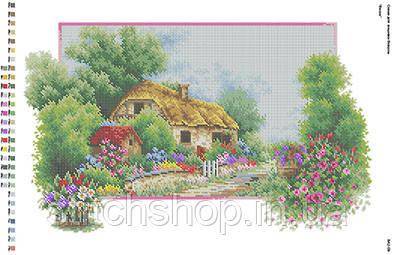 БА2-09 Весна. Вишиванка. Схема на ткани для вышивания бисером