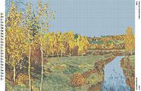 БА2-17 Осень. Вишиванка. Схема на ткани для вышивания бисером