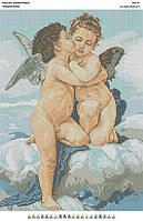 БА2-18 Поцелуй ангела. Вишиванка. Схема на ткани для вышивания бисером
