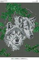 БА2-35 Волки. Вишиванка. Схема на ткани для вышивания бисером
